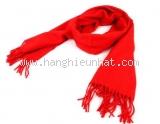 Khăn Hermes cashmere màu đỏ