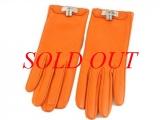 S Găng tay Hermes size 6 1/2 màu cam