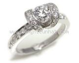 Nhẫn Tiffany&Co K18WG kim cương 0.42ct