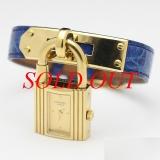 Đồng hồ Hermes kelly màu xanh vàng