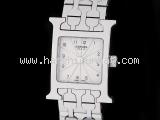 Đồng hồ Hermes HH1.110 màu trắng bạc