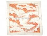 Khăn hermes TROIS màu trắng