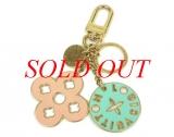 Móc chìa khóa LV vàng hồng xanh M66006