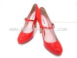 Giày Miu Miu size 37 1/2 màu đỏ tươi
