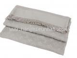 Khăn Louis Vuitton len lụa màu ghi