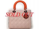 S Túi xách Christian Dior màu hồng cam