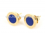 Bông tai Bvlgari K18YG xanh vàng