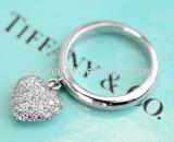Nhẫn Tifany&Co Pt950 size 6.5 kim cương trái tim