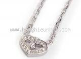 S Vòng cổ Cartier K18WG kim cương trái tim
