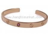 Vòng tay Cartier K18PG sapphire hồng