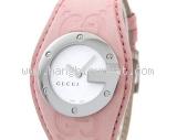 MS3248 Đồng hồ Gucci 104 dây da hồng