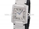 SA Đồng hồ Cartier K18WG kim cương