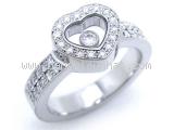 Nhẫn Chopard K18WG kim cương size 7.5