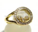 Nhẫn Chopard K18YG kim cương size 8