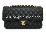 Túi xách Chanel Caviar medium đen vàng