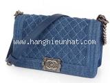Túi xách Chanel boy màu xanh