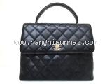 Túi xách Chanel kelly màu đen da sần
