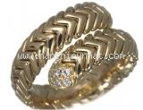 Nhẫn rắn bvlgari kim cương