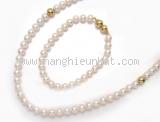 Bộ vòng cổ vòng tay Mikimoto ngọc trai 5.9-6.4mm