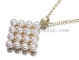Vòng cổ Ngọc trai Mikimoto mặt vuông