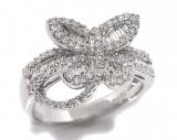 Nhẫn kim cương hình bướm 0.80ct