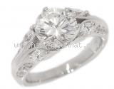 Nhẫn kim cương 2.021ct nước H