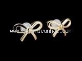 Bông tai Tiffany&Co K18YG hình nơ
