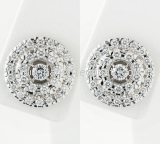 Bông tai Mikimoto K18WG kim cương