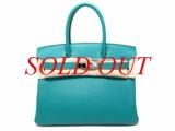 Túi Hermes Birkin 30 da epson màu xanh