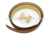 NEW Thắt lưng Hermes size 100 khóa vàng