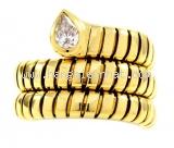 Nhẫn Bvlgari hình rắn K18YG kim cương size 11.5