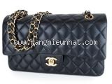 SA Túi xách Chanel da lamskin màu đen