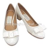NEW Giày Ferragamo Vara Cut màu trắng