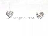 Bông tai Tiffany&Co Pt950 kim cương trái tim