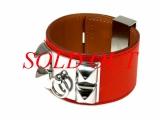 S Vòng tay Hermes màu đỏ bạc