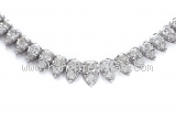 Vòng cổ bạch kim Pt850 kim cương 10.00ct