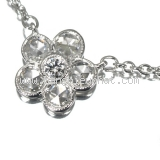S Vòng cổ Tiffany&Co garden flower Pt950 kim cương