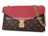 Túi Louis Vuitton nâu đỏ dây xích M41201