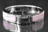 Vòng tay Hermes clic màu hồng bạc