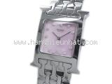 Đồng hồ Hermes kim cương mặt số hồng HH1.210