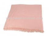 Khăn Hermes cashmere màu hồng