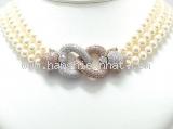 Vòng cổ Chopard K18YG/WG ngọc trai kim cương