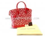 S Túi Louis Vuitton Lockit vernis đỏ chấm trắng M91423
