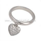 Nhẫn Tiffany&Co Pt950 kim cương size 10
