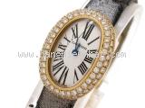 Đồng hồ Cartier K18PG kim cương nữ