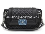 S Túi xách Chanel boy màu đen