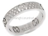 SA Nhẫn Gucci K18WG kim cương size 9
