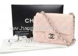 S Túi xách Chanel mini màu kem hồng