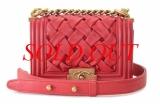 Túi xách Chanel boy mini màu đỏ