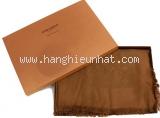Khăn Louis Vuitton len lụa nâu vàng